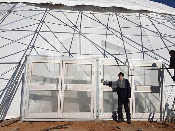 tent glass door