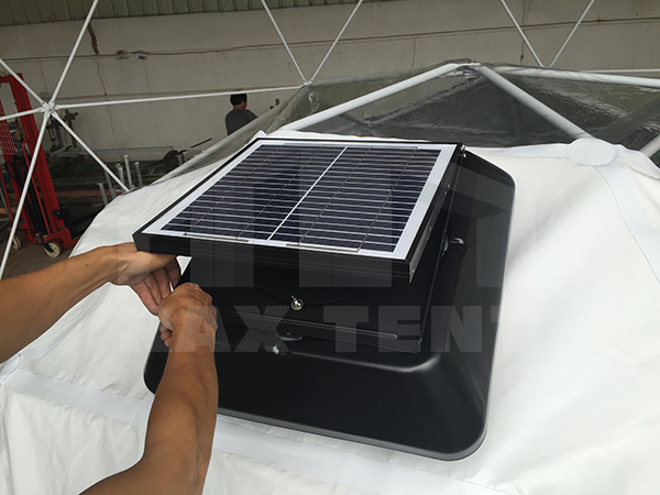 tent solar energy exhaust