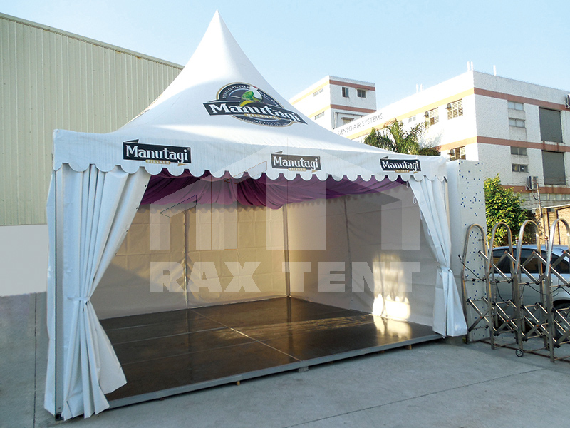 China factory pagoda tent with printed logo