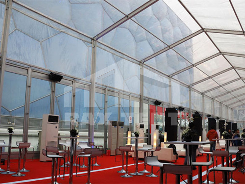 raxtent big tent with transparent PVC