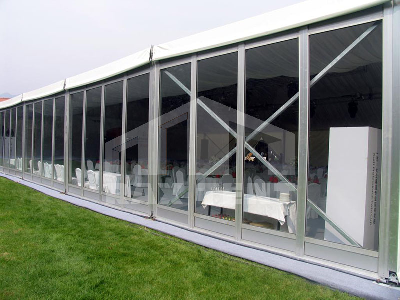 tent glass wall