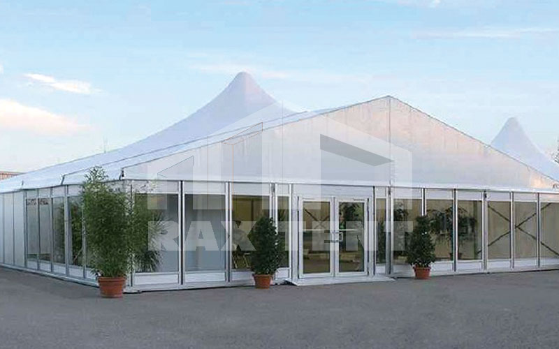 combination tent side glass wall