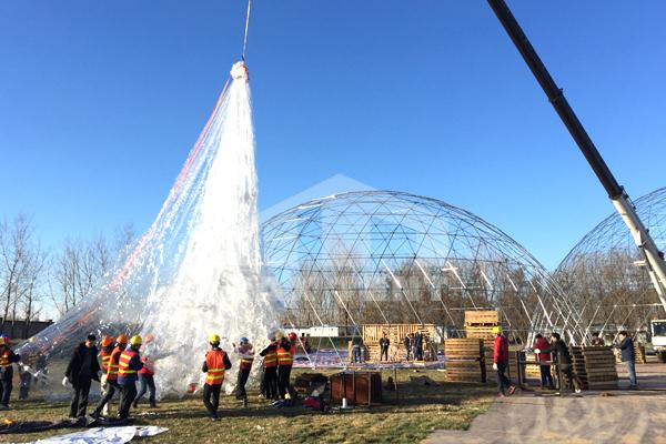 dome tent,transparent PVC cover