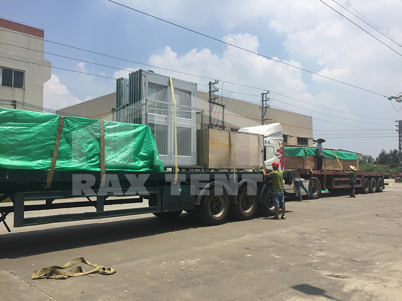 tent truck transportation