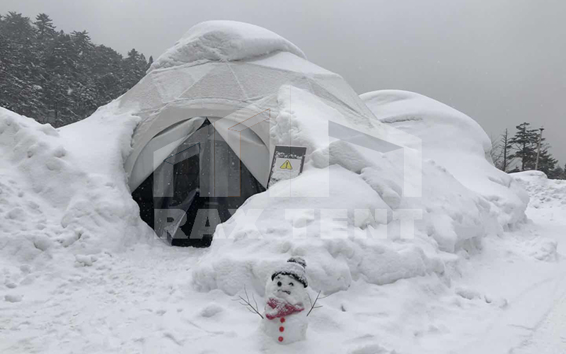 dome tent snow load