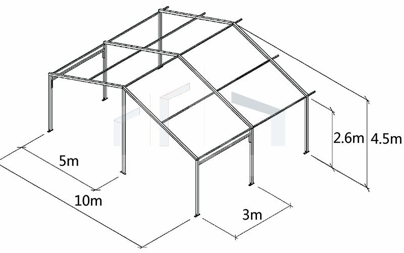 small aluminum tent size
