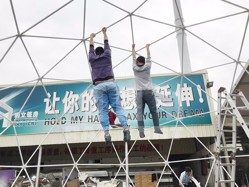 strong dome tent structure