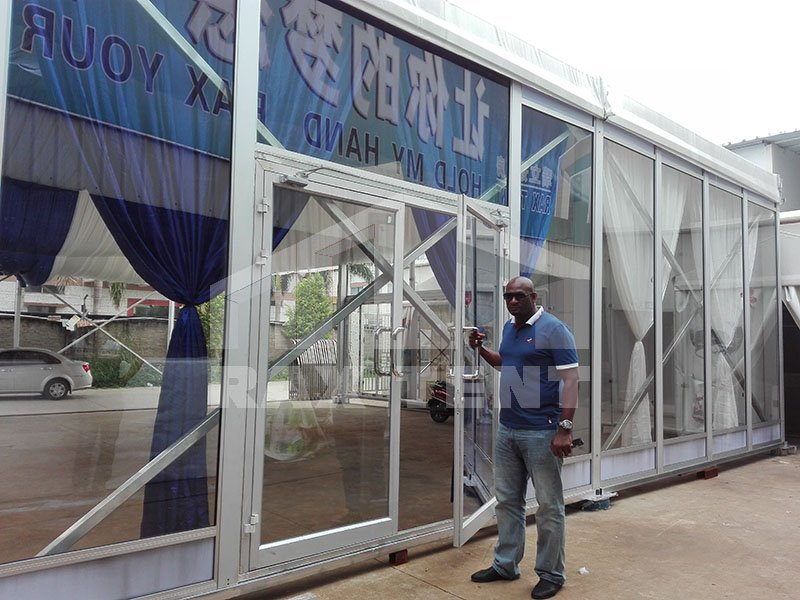 tent glass door