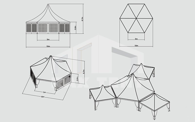 raxtent combination tent size and shapes