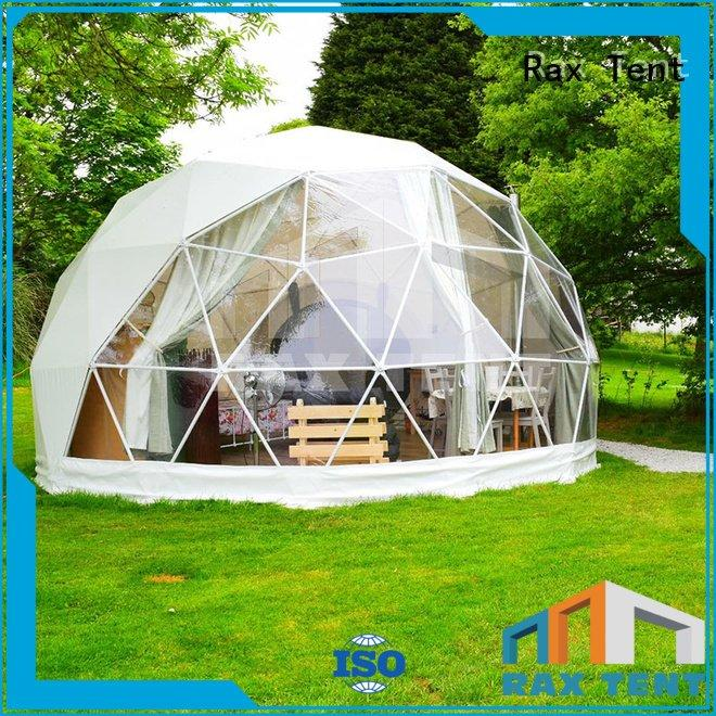 Hot camping dome tents for sale glamping luxury camping tents galanized RAXTENT