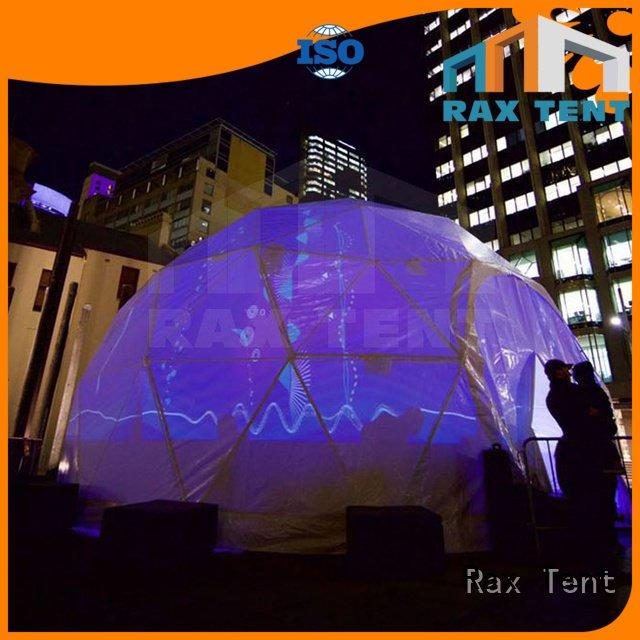 outdoor projection RAXTENT dome marquee for sale