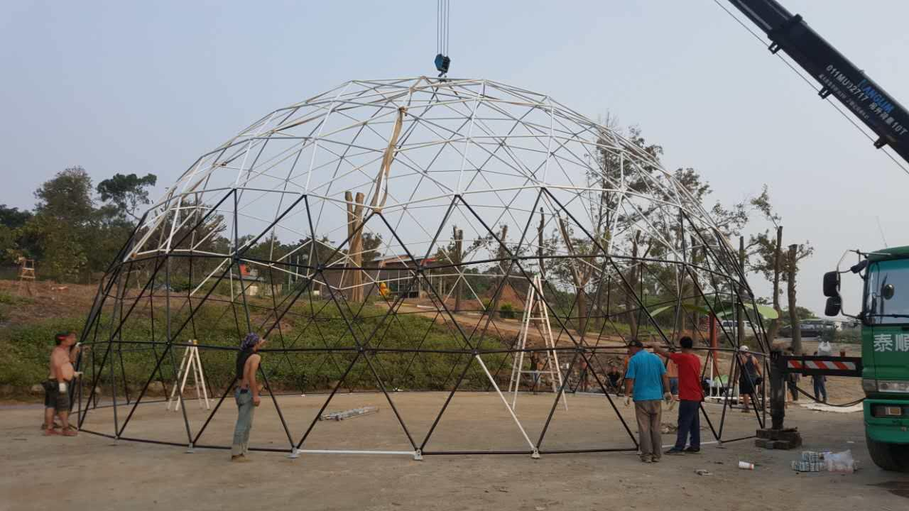16m Geodesic dome tent for Theme Park events