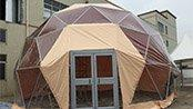 10m Dome tent installation in our factory
