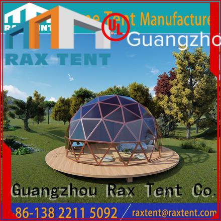 fashionable glass dome tent light-weight aluminum alloyfor garden