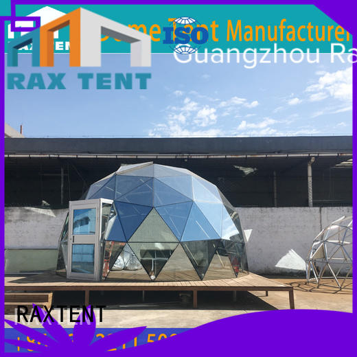 25m 4m frame glass dome hotel RAXTENT Brand largest dome tent