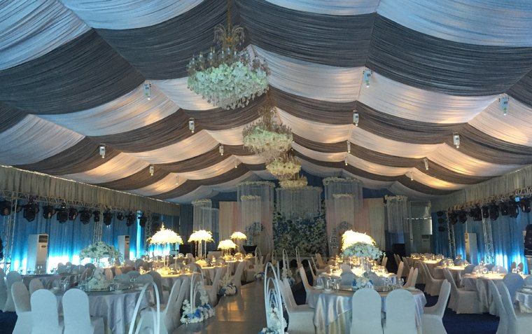 raxtent wedding tent,party tent with roof lining