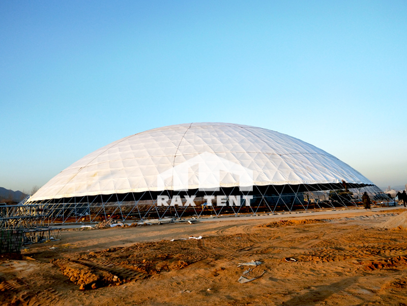 80m  in diameter dome tent