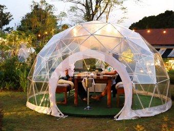 Raxtent garden dome house