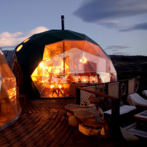 outdoor dome tent house
