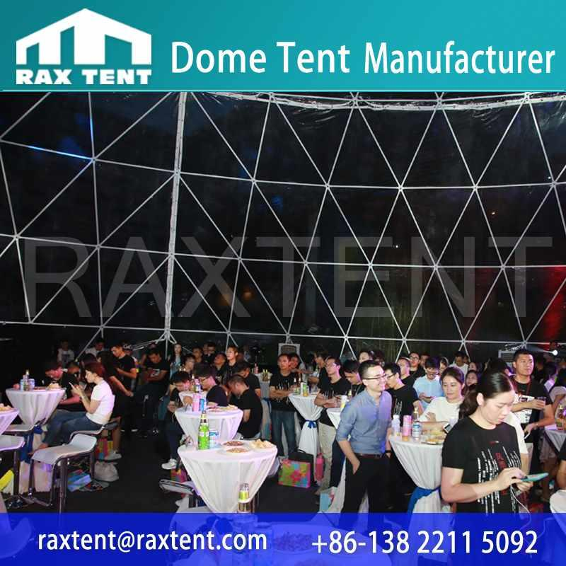 Raxtent 30m dome tent for event,transparent dome for Vanke Real Estate 32nd Anniversary Celebration,dome tent for outdoor party