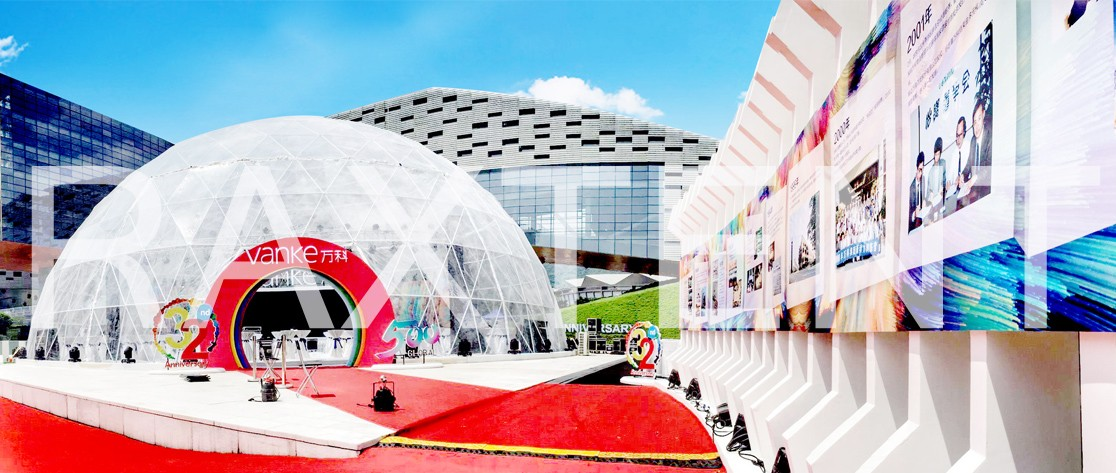 Raxtent event dome for celebration