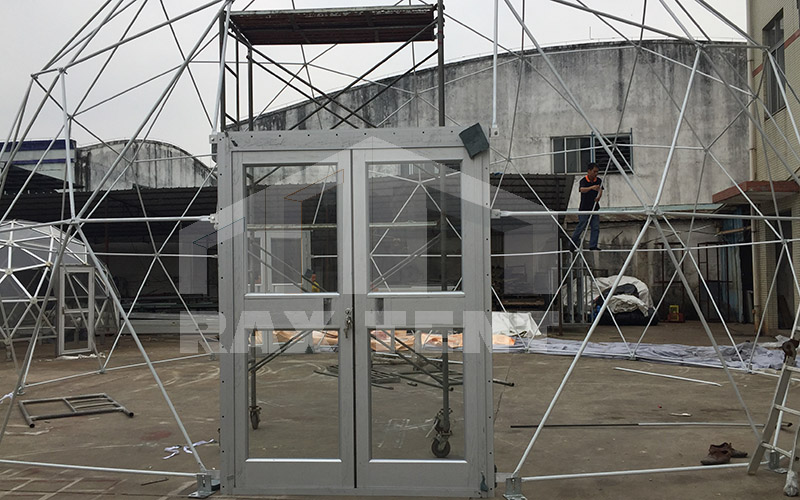 glass dome glass door