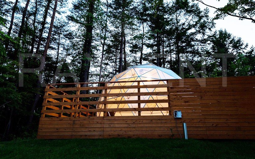 Raxtent dome house for outside living