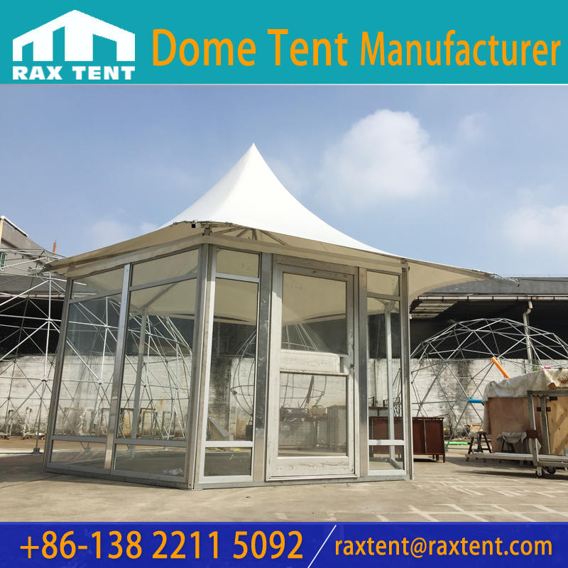 5m Customized Polygon glamping  Tent with glass wall using for Luxury glamping house