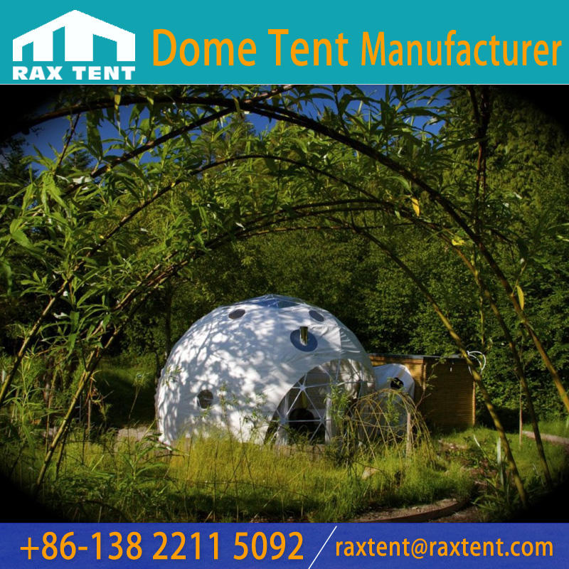 3m to 10m Luxury Clear dome tent For Glamping Hotel & dome house