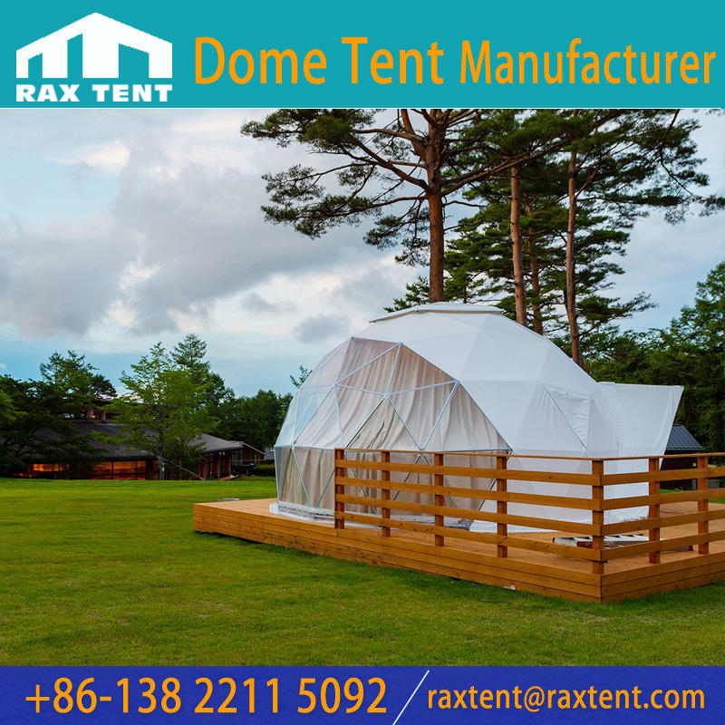 6m Luxury dome tent For Glamping Hotel,outside camping house,family holiday,summer vacation in the forest
