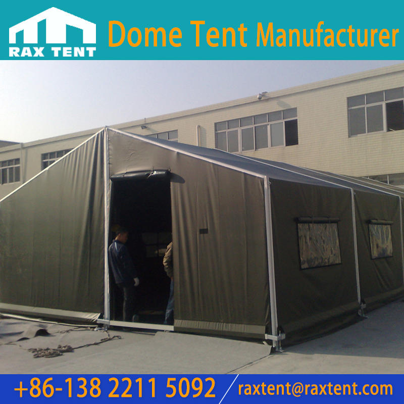 6m to 8m Aluminum Military Tent with PVC cover for Army Barracks