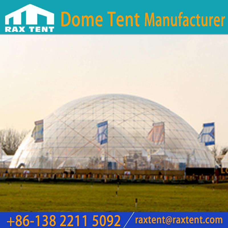 50m Event Dome Tent with Stainless Steel Pipe Frame for 1800-3500 People