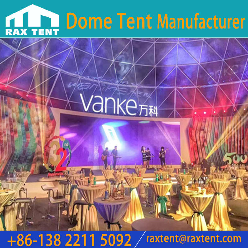 3m to 80m in Diameter Dome Tent for 650 to 1200 Person