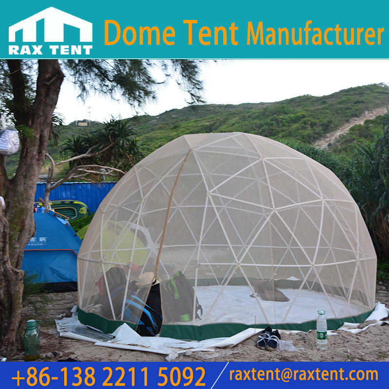 Clear 3.6M 2 Person Round Glamping Dome Tent in Garden House with 2.2m Height