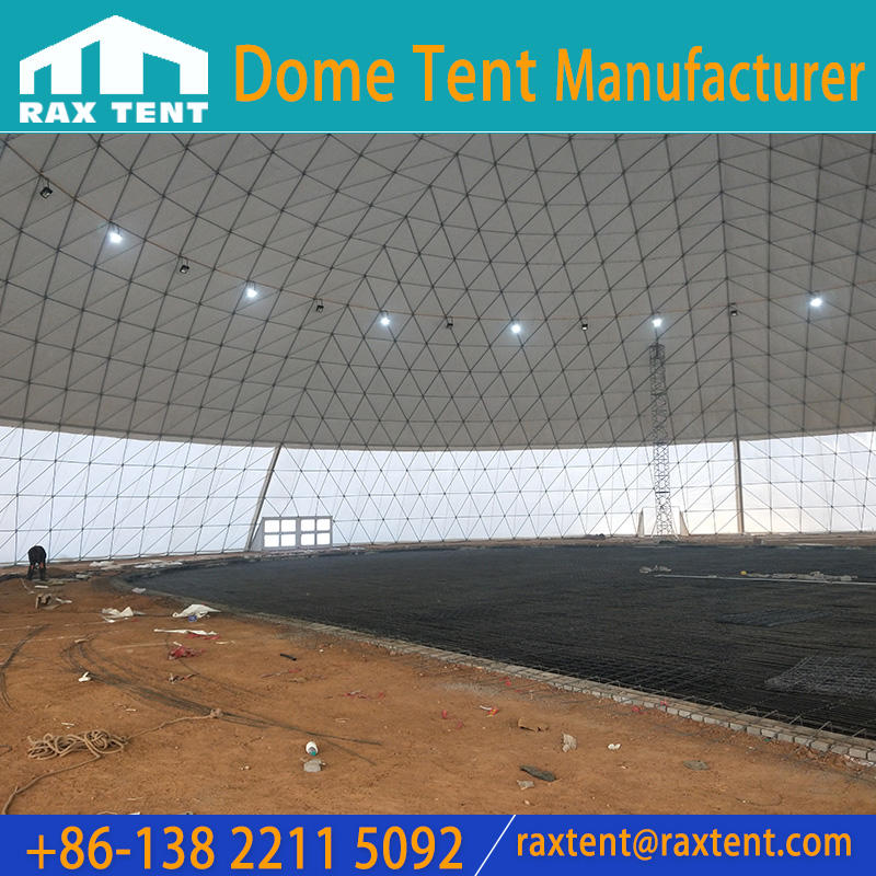 80m Big Geodesic Dome Tent for 5000 Person with Waterproof PVC Cover
