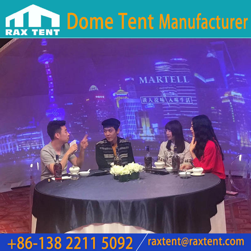 1/4 Shape of Dome Tent for outdoor Projections, Events with PVC cover
