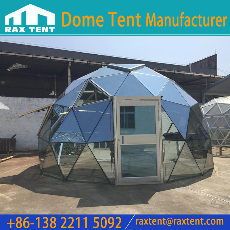 4 to 6 Man Tempered Glass Dome Tent with Aluminum Frame & Power Window