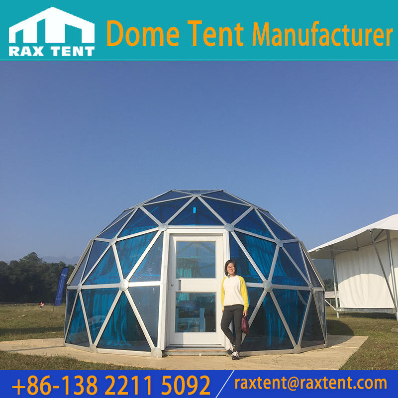 4m to 25m Glass Dome Tent with Aluminum Frame for Hotel Cafe Room