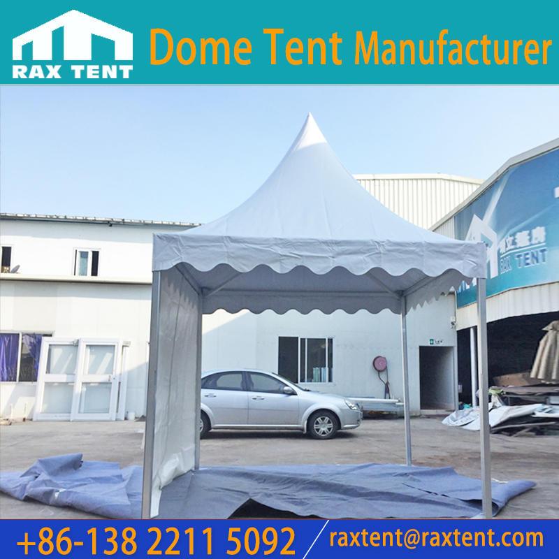 3x3/ 4x4 /5x5 /6x6m aluminum PVC Gazebo pinnacle Pagoda Tent for sale