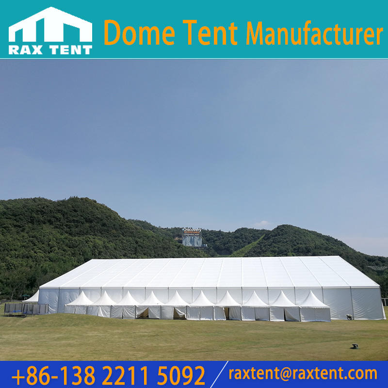 Raxtent marquee tent for big events with aluminum alloy frame and PVC fabric cover,PVC windows,wooden floor