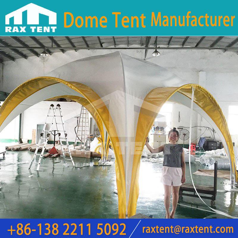 5X5M Quadrangular custom dome tent with Galvanized pipe frame