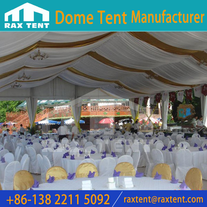 Roof lining with different colors for marquee tent