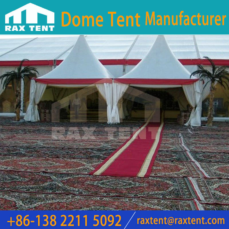 The luxury carpet for the outdoor dome tent, aluminum frame marquee tent