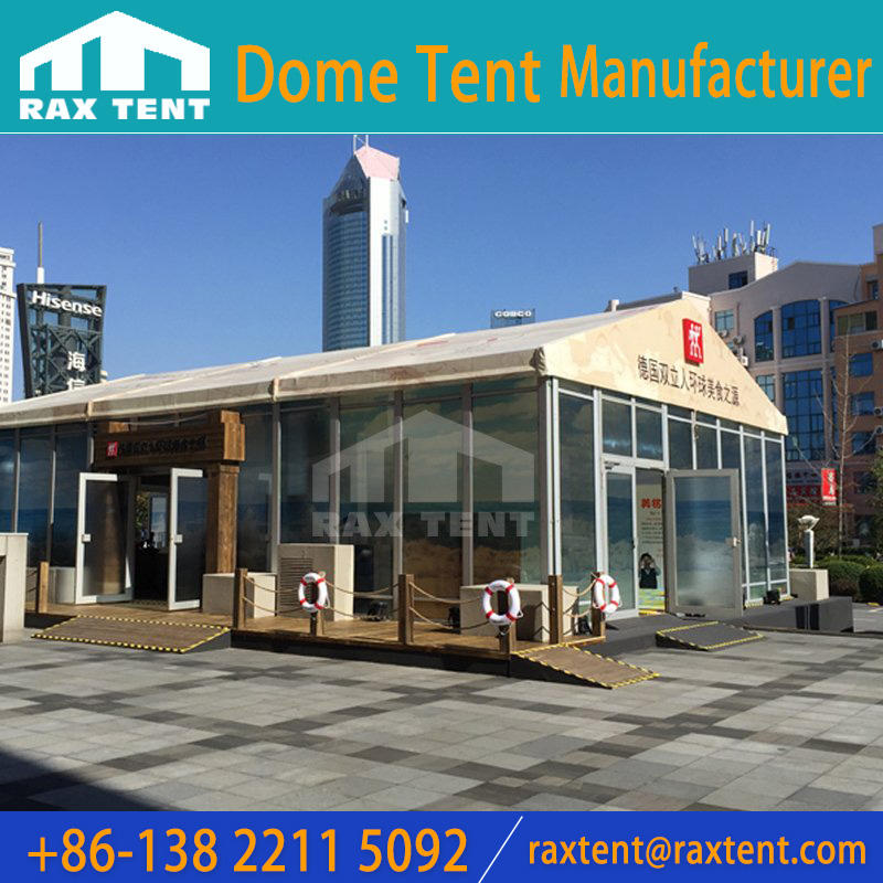 10x15m with glass wall marquee tent for German Shuang Liren Food Festival