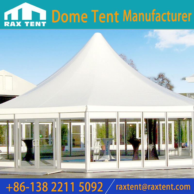 Aluminum Polygon Roof Marquee Tent with lining decoration for Concert