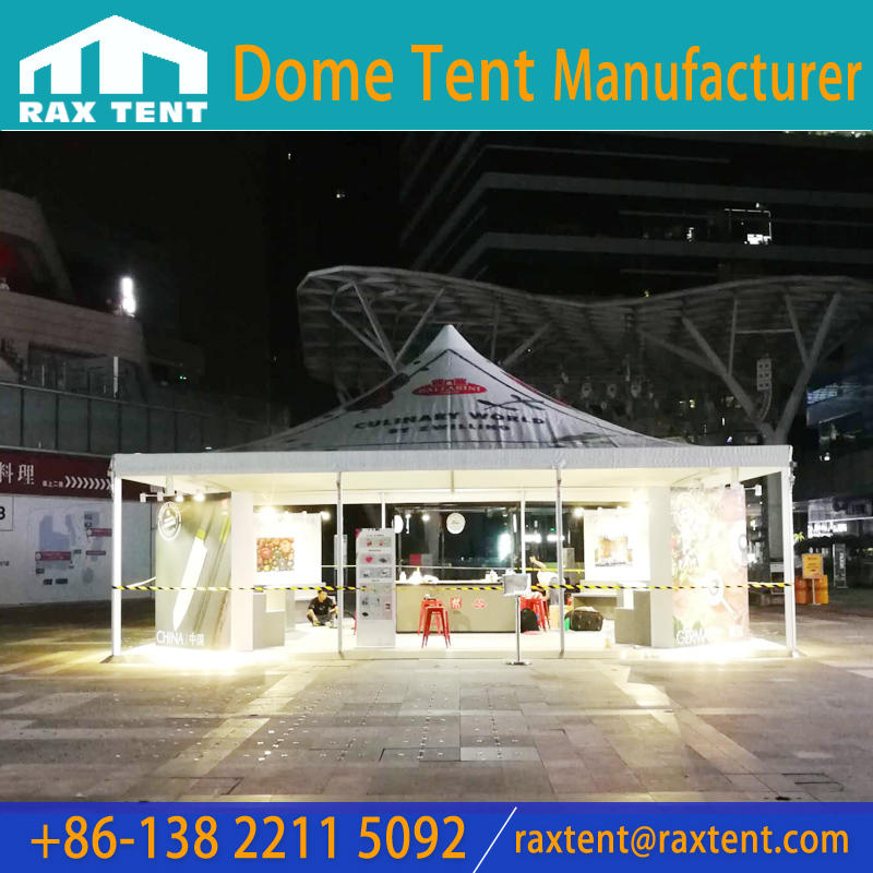 Raxtent 10X10M pagoda tent marquee tent with aluminum frame for German ZWILLING brand outdoor promotion event