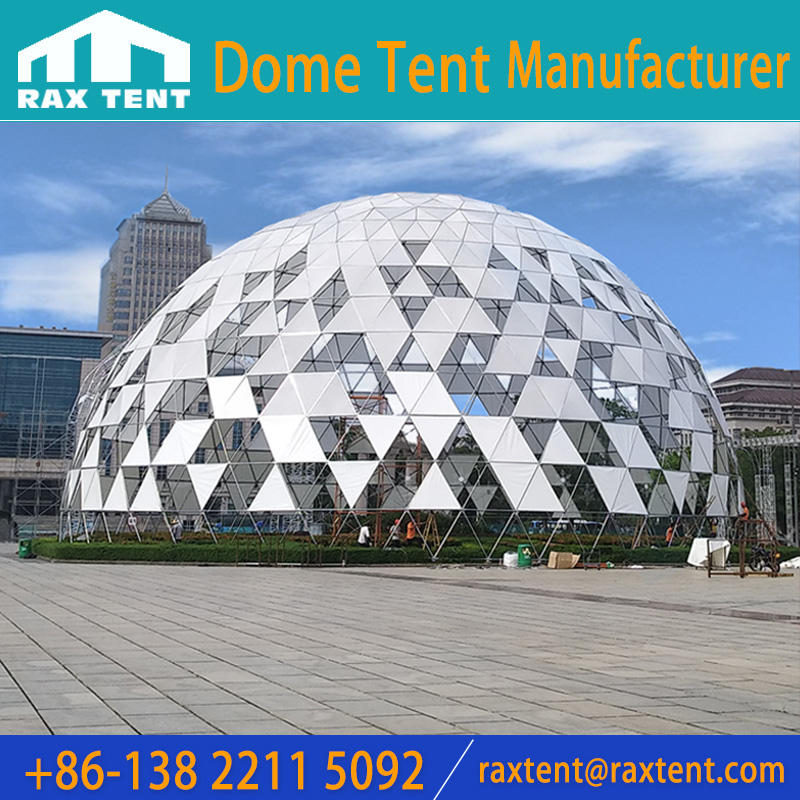 35m Massive Geodesic Dome for Events,Galvanized Steel Frame Dome for Festival Tent,Projection Dome