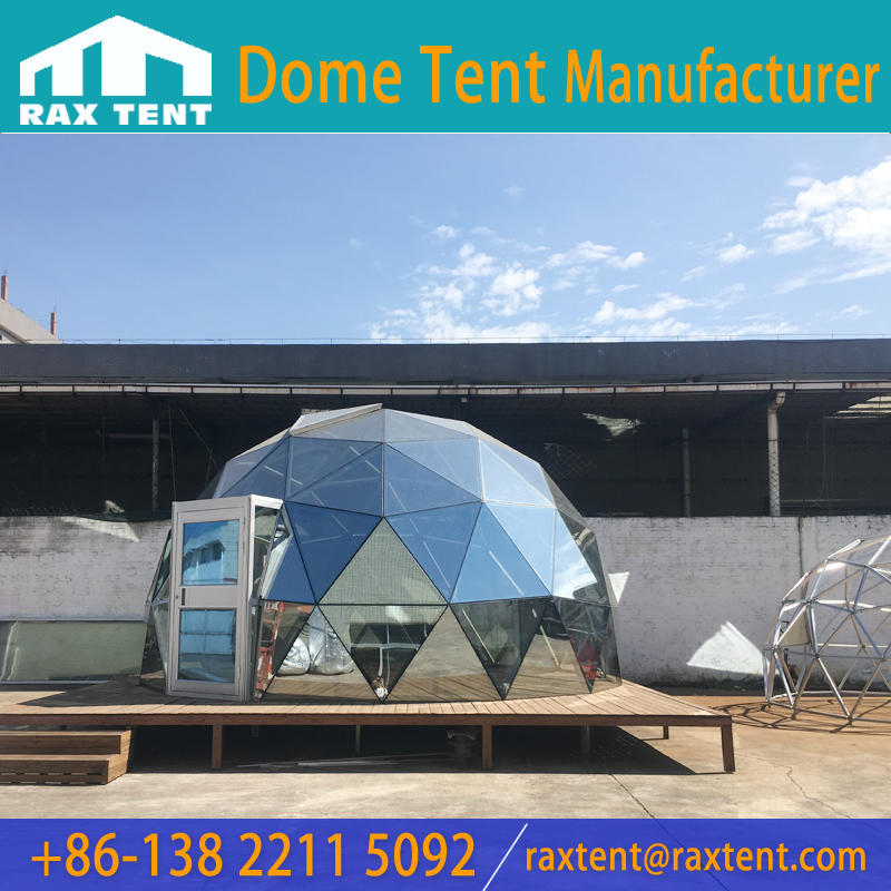 Glass Dome House Glass Igloo Hotel Geodesic Dome Covered with Double-deck Low-e Glass