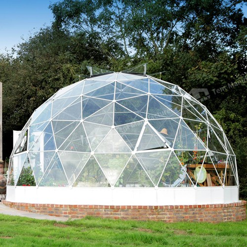Glass dome house