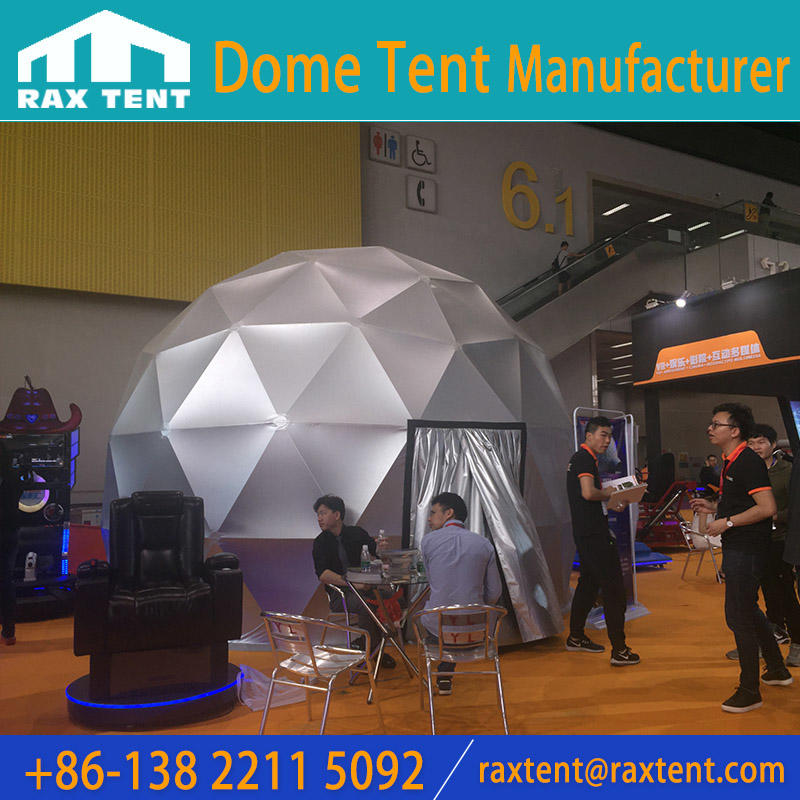 Projection tent geodesic dome for projection used for outdoor cinema theatre